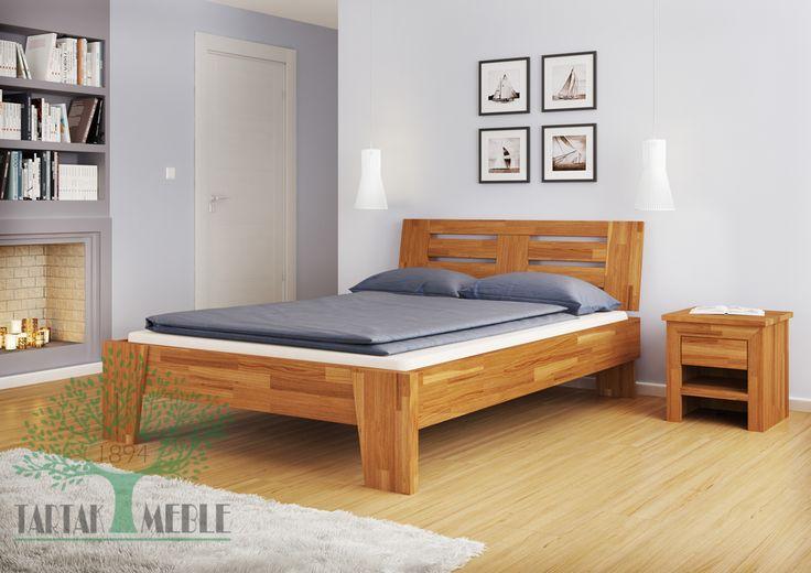 Łóżko dębowe Verona to silna konstrukcja wzorowana na stylu północnych regionów Włoch. Wykonana w najnowszych technologiach z pięknego drewna, długowiecznego dębu.  #bed #łóżko #meble #sklep #tartakmeble