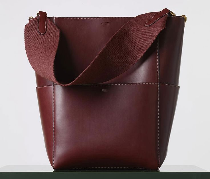 Celine-Sangle-Seau-Bag-Burgundy | Bags Bags Bags | Pinterest ...