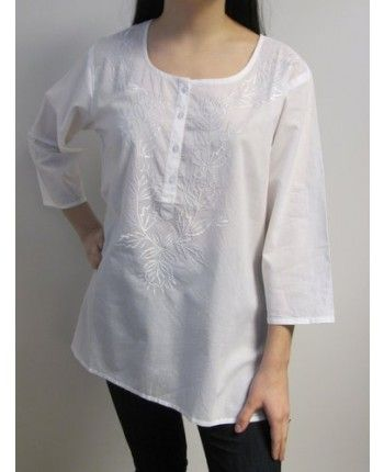 Buy beautiful cotton tunic tops, that is airy, cool and casual chic. This tunic top is beautiful and affordable