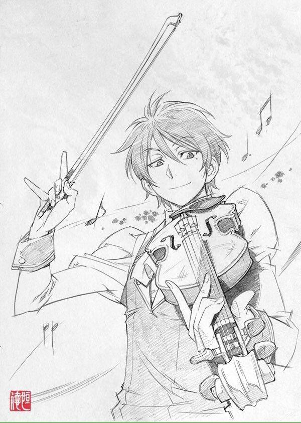 #Dessin violon par xi_tsune #Musique #Manga