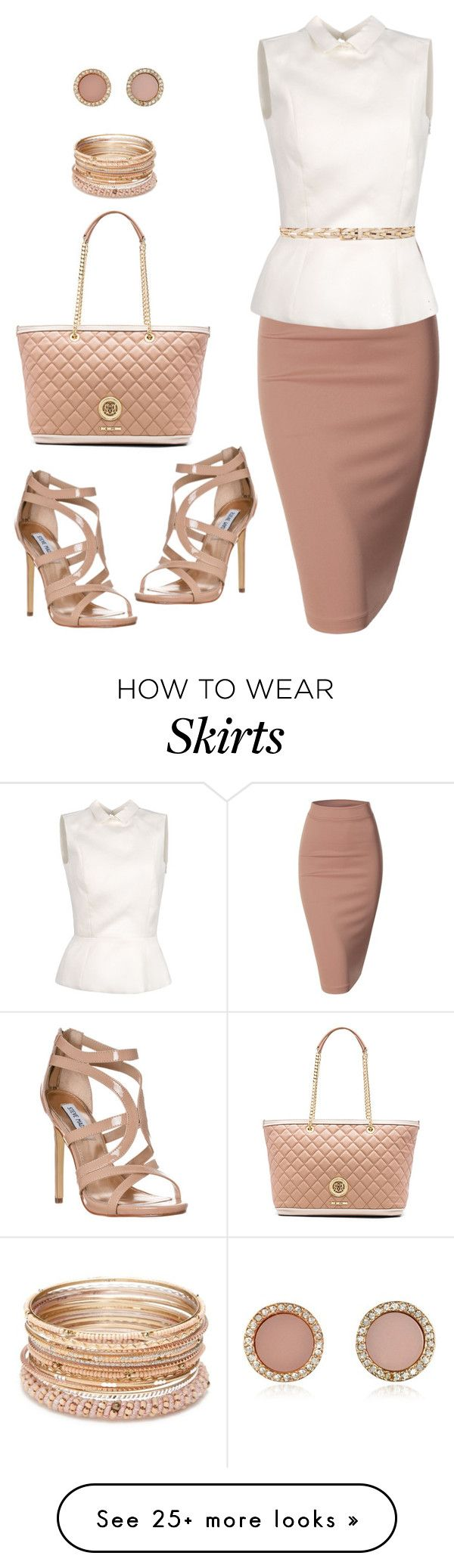 """Untitled #833"" by gallant81 on Polyvore featuring Love Moschino, Doublju, Rochas, Steve Madden, Michael Kors, Red Camel and Linea Pelle"