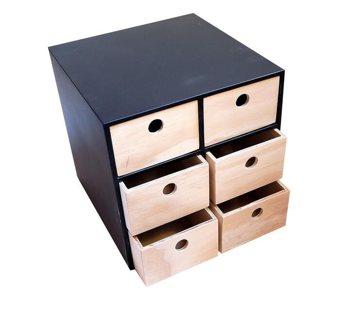 Utility 6 Drawer Black Frame Natural Drawers No Handle Storage Files File Storage Filing Folders Paper Filing Stationery Office Furniture In 2020 Natural Drawers Drawers Office Furniture