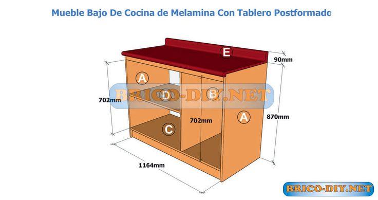 Bricolaje-Diy Planos gratis Como hacer muebles de melamina madera y Mdf | Web del Bricolaje Diseño Diy