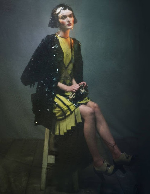 "Lilogi.com - ""The Golden Age"" - inspiration images, 1920's fashion, deco, Sam Rollinson, by photographer Damian Foxe #1920, #decofashion, #editorial,"