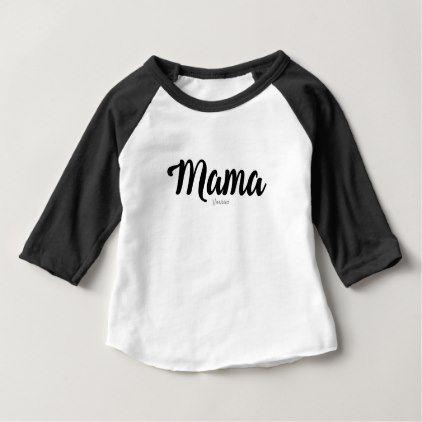 #Mama by VIMAGO Baby T-Shirt - #Xmas #ChristmasEve Christmas Eve #Christmas #merry #xmas #family #kids #gifts #holidays #Santa