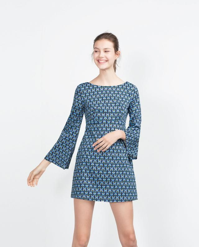 Retro-print Dress by Zara