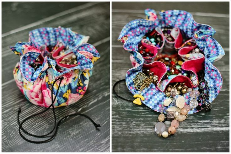 Tutorial for jewellery pouch. Can be used as a little sewing bag too.