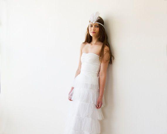 Tulle layers ivory maxi bridal skirt  Tulle bridal di BLUSHFASHION