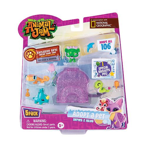 """Animal Jam Series 2 Style 2 5 Pack Adopt a Pet Blind Pack - 1 Mystery - JazWares, Inc - Toys """"R"""" Us"""