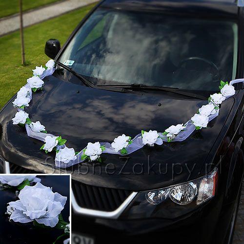 RÓŻE na samochód białe duże 12szt #slub #wesele #sklepslubny #slubnezakupy #dekoracje