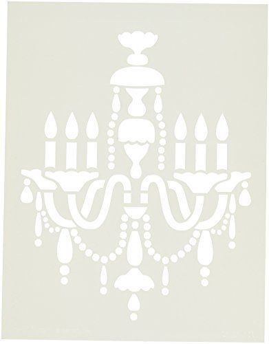 14 best chandeliers lustres images on pinterest chandeliers chandelier stencil by white mozeypictures Images