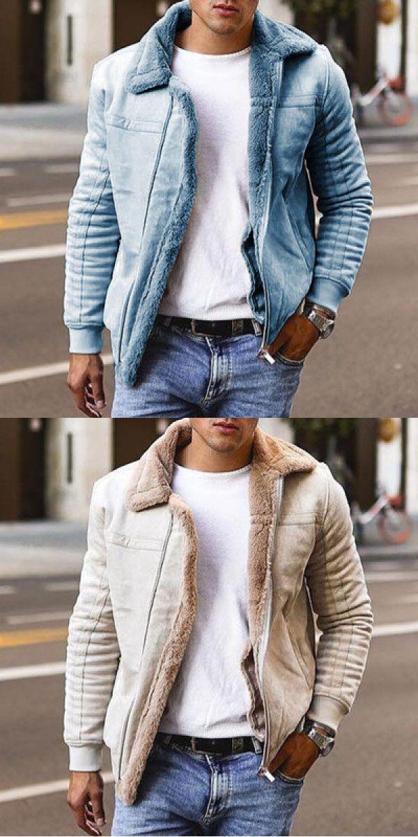Fleece Warm Coat for Men | Mens casual outfits summer, Men fashion casual  outfits, Streetwear men outfits