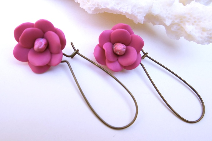 Southern Magnolia  Earrings, Japanese Magnolia Flower Earrings, Spring  Summer Jewelry , Southern Wedding Jewelry Theme