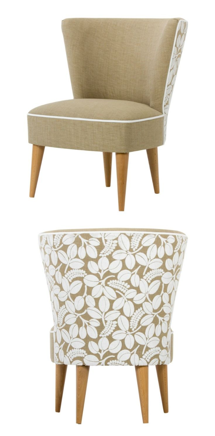 A stunning chair upholstered with the exquisite Calaggio fabric from Designers Guild in the chalk colourway.