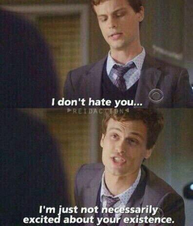 I don't hate you ... But