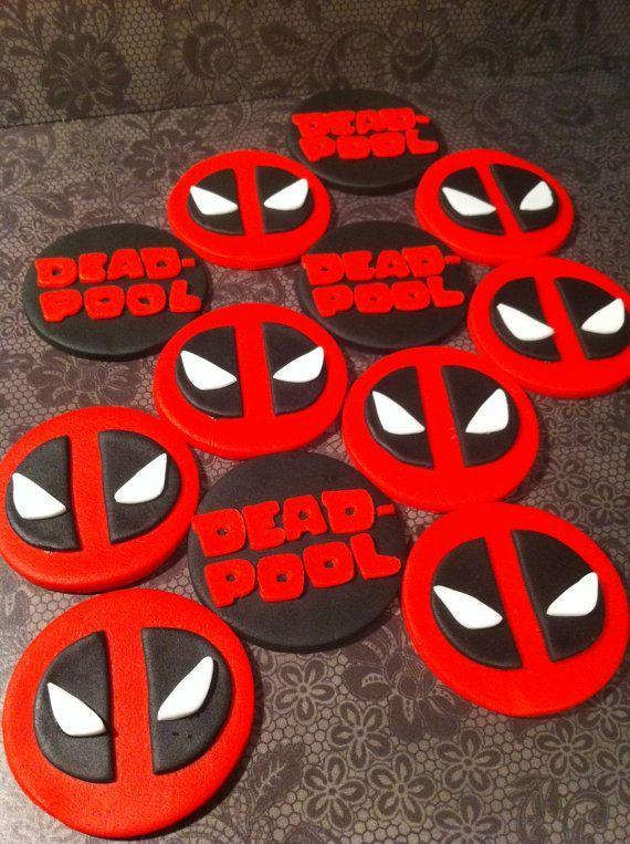 deadpool cupcakes - Google Search | Festa