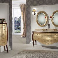 Návrat do 17. století pomocí nádherného a originálního koupelnového nábytku.  www.sapho-koupelny.cz
