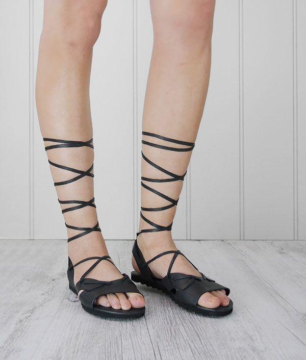 Alexis sandals - wrap around, leather
