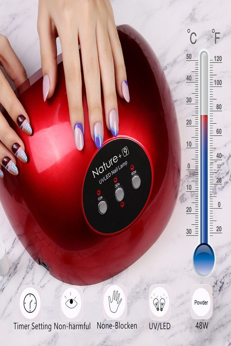 11.43 | Professional UV Nail Dryer Lamp Gel Polish Light Curing All ...