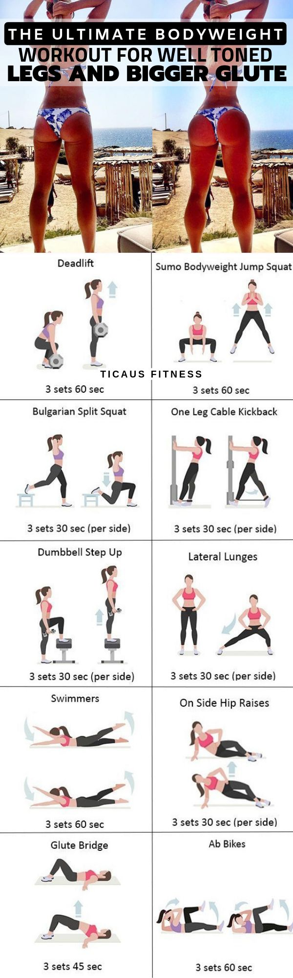 The Ultimate Bodyweight Workout for Rounder Glutes & Well Toned Legs