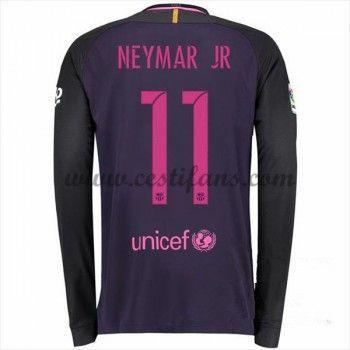 Barcelona Fotbalové Dresy 2016-17 Neymar Jr 11 Venkovní Dres Dlouhým Rukávem
