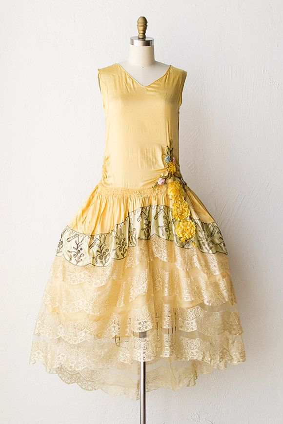 vintage 1920s flapper dress | 20s flapper dress | Golden Youth Dress