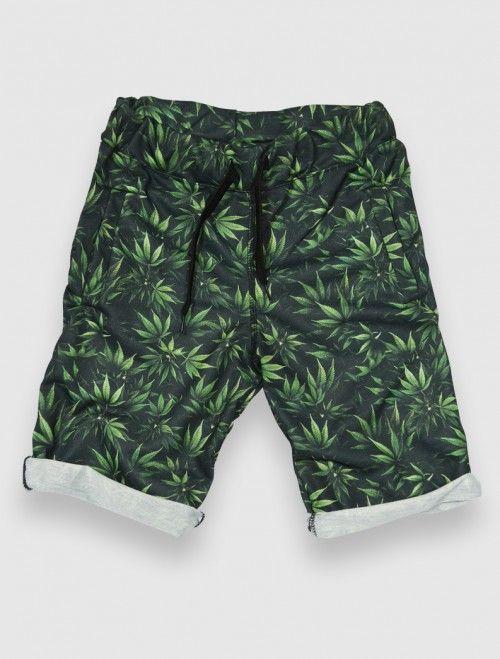 Bermuda tipo basket de hombre con estampado digital Marihuana Weed y cinturilla con goma. Comprar bermudas y pantalones de hombre en Latiendajoven.com las últimas tendencias en moda joven y streetwear al mejor precio. #moda #weed #bermudas #hombre #trendy #streetwear #fashion #boy