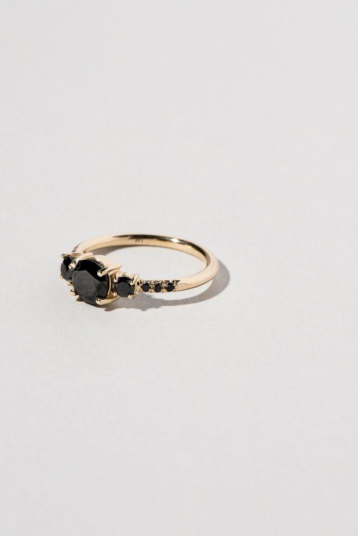 Black Diamond Orion Ring In 2020 Black Diamond Ring Engagement Black Diamond Ring Black Wedding Rings