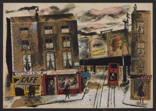 """collageoftheweek:  """" James Boswell, Street Scene 1946  """""""