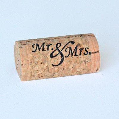 Custom Printed Wine Cork Place Card Holders by CorkeyCreations, $25.00