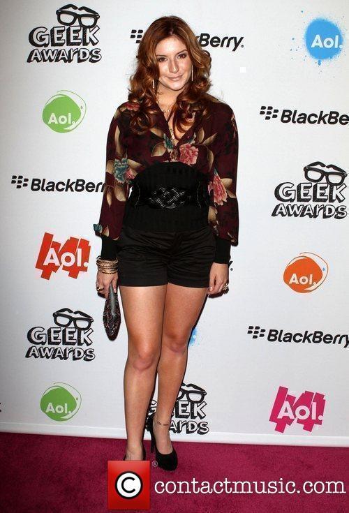 Anneliese Van Der Pol At Aol Geek Awards Red Carpet -8139