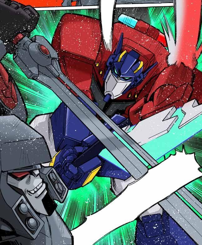 417 best transformers animated images on pinterest - Transformers cartoon optimus prime vs megatron ...