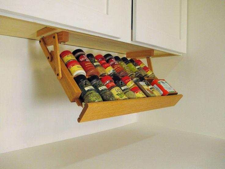 Die besten 25+ Cabinet spice rack Ideen auf Pinterest - gewürzregale für küchenschränke