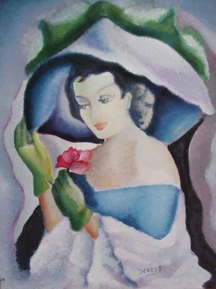 Kalapos hölgy