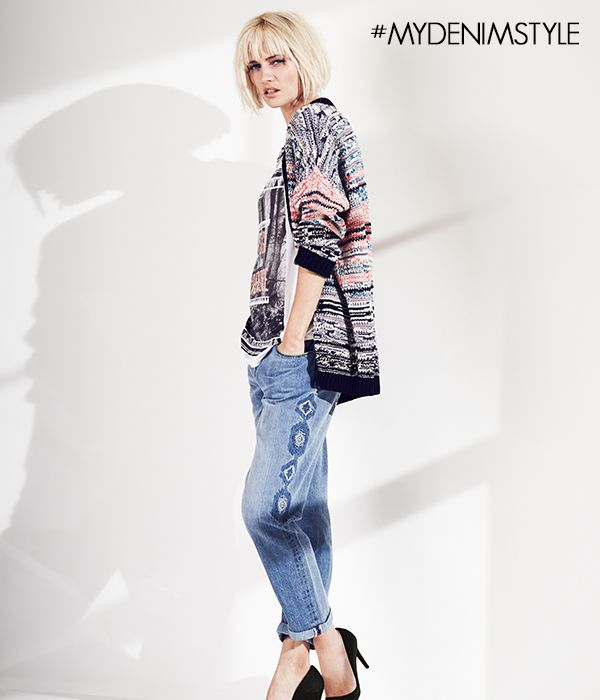 This season see's more of a mix of textures, colours and prints than ever before! We simply love this outfit - like if you do too! #MyDenimStyle #SS14 #Fashion #Prints #Textures