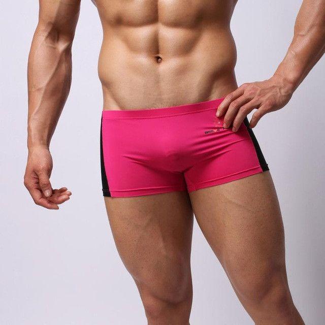 Plus Size Masculino Sexy Men's Boxer Briefs Swimming Swim Shorts Trunks Addicted Sous Vetement Homme Mannen Ondergoed tr1