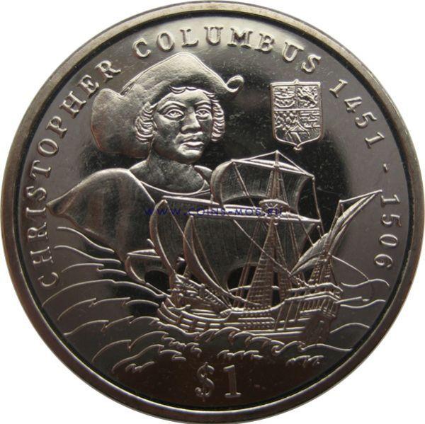 Сьерра-Леоне. Мореплаватель «Христофора Колумб»  1 доллар 2006 г.
