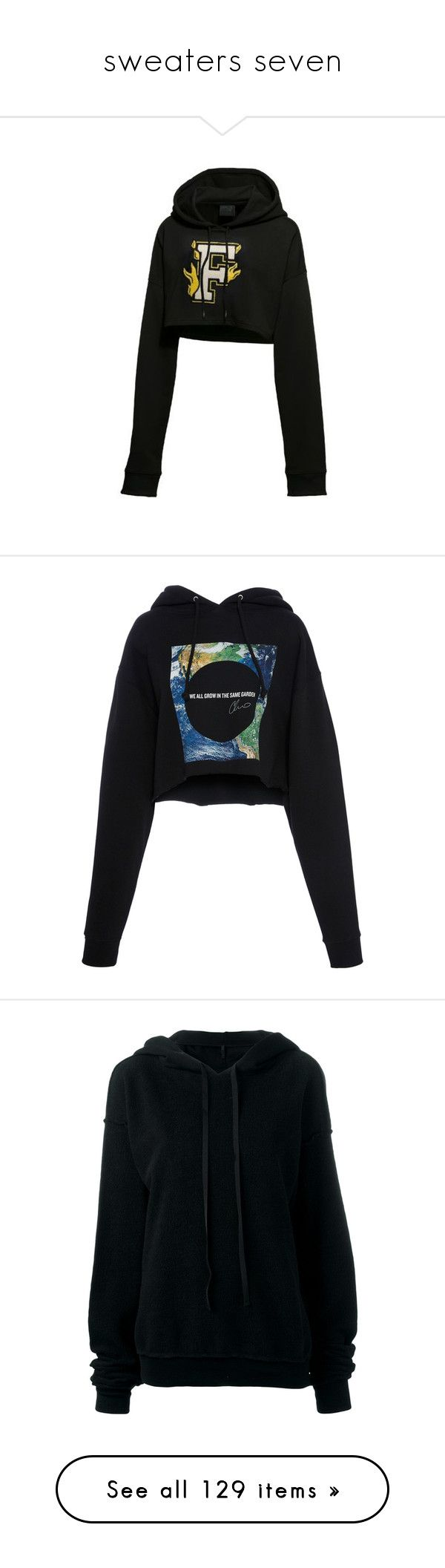 """""""sweaters seven"""" by gmbtch ❤ liked on Polyvore featuring tops, hoodies, sweatshirts, hooded top, cropped sweatshirt, hooded crop top, cropped hooded sweatshirt, puma top, black and hoodie top"""
