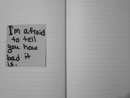 depression pictures and quotes | mine Black and White depression eating disorder bw self-harm journal ...