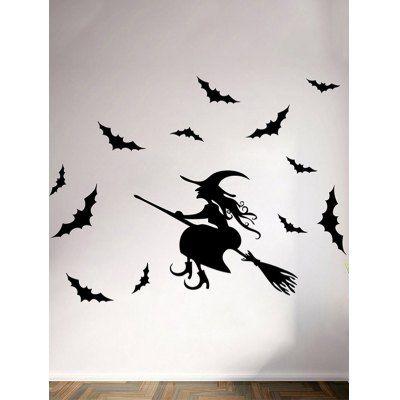 Waterproof Happy Halloween Witch Bats Room Wall Sticker #women, #men, #hats, #watches, #belts