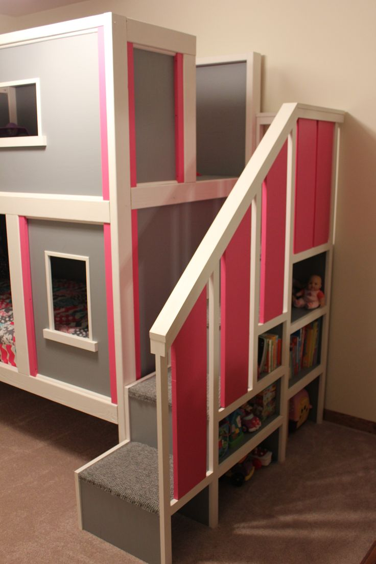 """Bunk Bed--I like this """"cleaner"""" version of sweet pea bunk."""