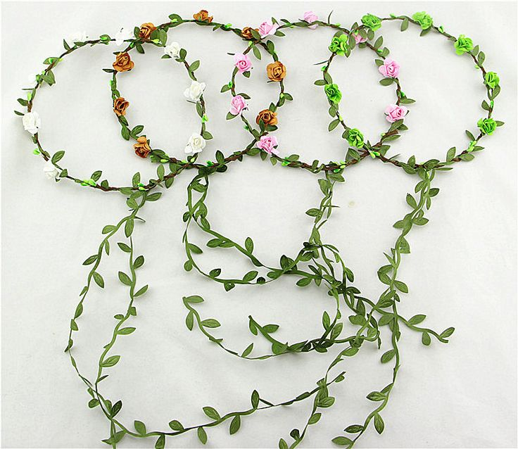 Free Shipping Bohemian Style Wreath Flower Crown Wedding Garland Forehead Hair Head Band Beach Wreath on http://ali.pub/ytc36