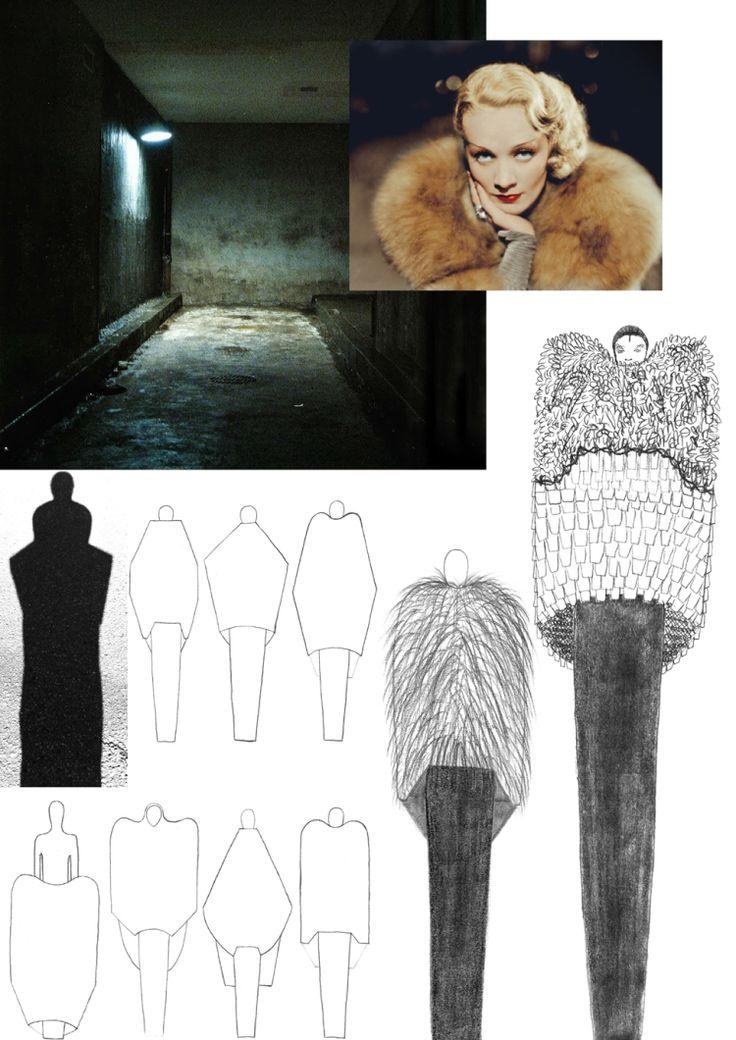 Fashion Portfolio - theme development & fashion drawings - fashion sketchbook; fashion design process // Felicia Swartling