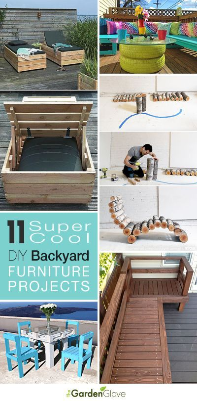 11 Super Cool DIY Backyard Furniture Projects • Lots of Ideas and Tutorials! [ http://Wainscotingamerica.com ] #backyard #wainscoting #design