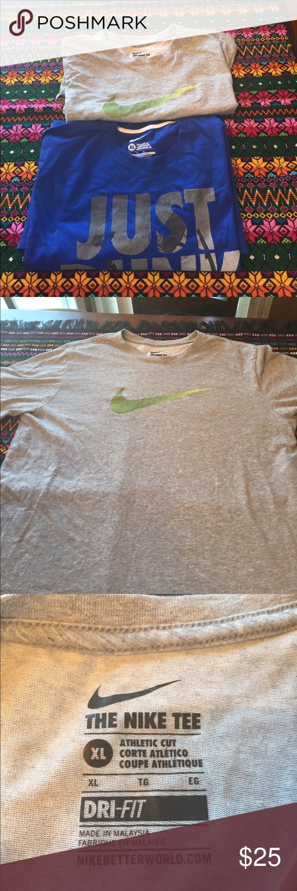 Nike T-shirts Up for sale are two Nike T-shirts one regular T-shirt the other is a dry fit both XL in great condition graphics look good price is negotiable Nike Shirts Tees - Short Sleeve