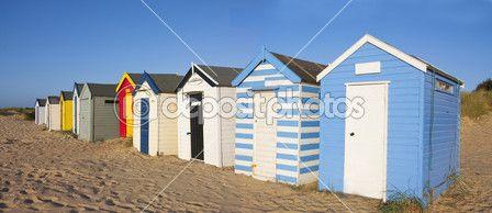 plážové chatky — Stock obrázek #2183010