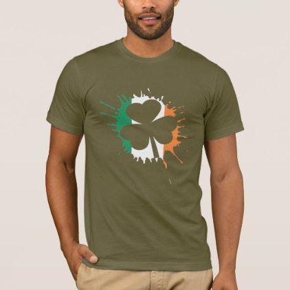 Irish Flag Shamrock St Patricks Day T-Shirt - st patricks day gifts Saint Patrick's Day Saint Patrick Ireland irish holiday party