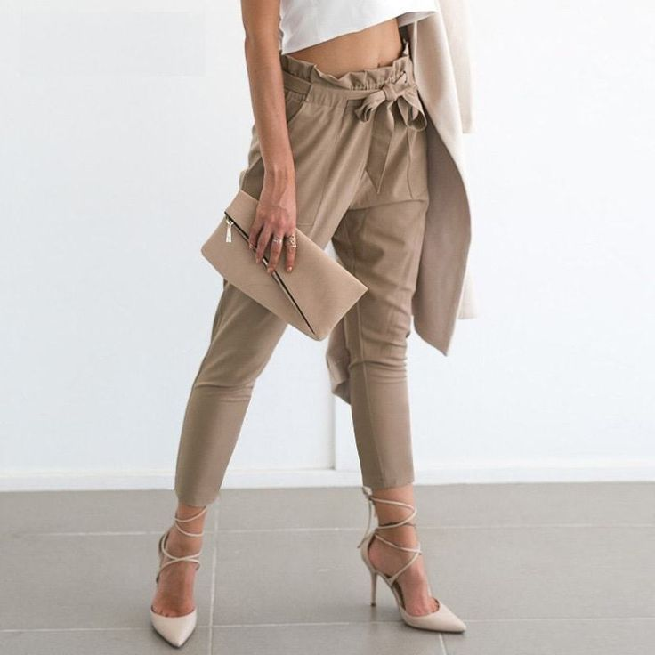 Casual High Waist Trousers