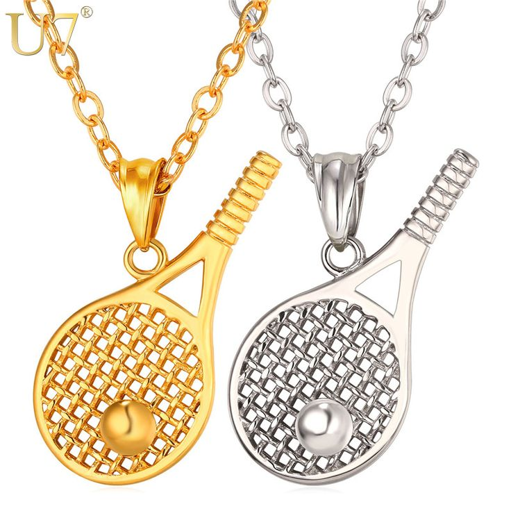 22 best sports jewelry images on pinterest pendant stainless tennis racket necklace for men gift stainless steel gold plated kpop sport jewelry mozeypictures Gallery
