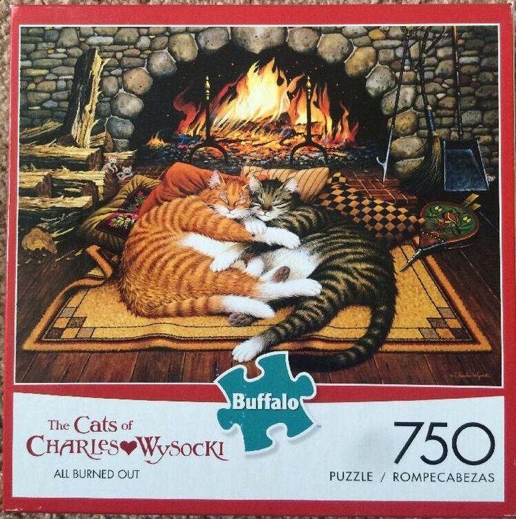Cats Of Wysocki 750 Pc Jigsaw Puzzle Kitty Tabby Calico